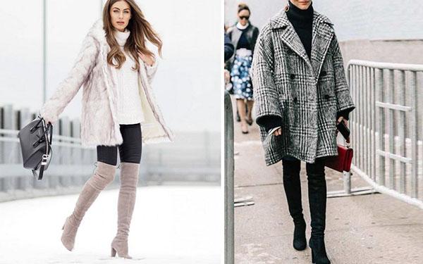 ботфорты с пальто